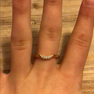 Fossil Rose Gold Moon Ring